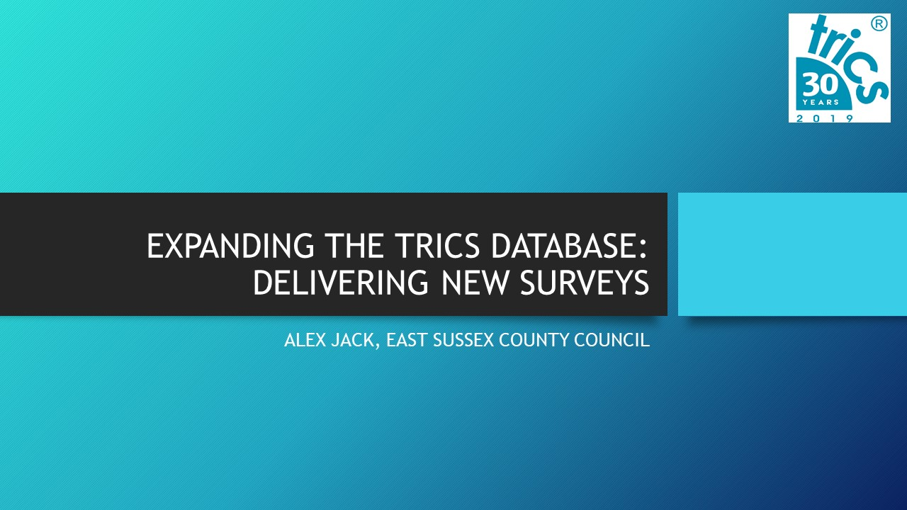 Expanding the TRICS Database